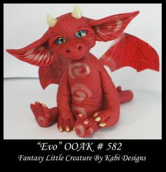 Fantasy Little Dragon Dollhouse Art Doll Polymer Clay CDHM OOAK Iadr EVO Mini | eBay