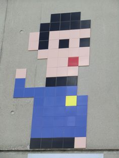 Paris--France--PA-1122-19eme-100pts Space Invaders, Paris France, Street Art, Mosaic, Deco, Mosaics, Decor, Deko, Decorating