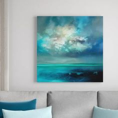 'Isle of Skye' by Scott Naismith - Wrapped Canvas Acrylic Painting Print Painting Frames, Painting Prints, Art Prints, Sky Painting, Frames On Wall, Framed Wall Art, Wall Mural, Banksy, Canvas Art
