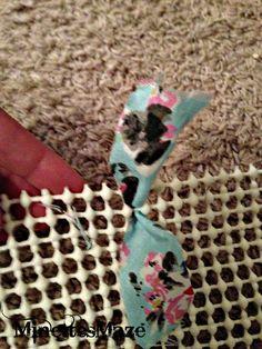MinettesMaze: Betty MJ's Dollar Tree Rag Rug!