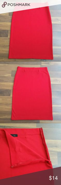 Forever 21 Red Pencil Skirt Size Small Petite Forever 21 Womens Red Pencil Skirt Size Small Petite Stretch. No Belt Included. Side Zip. Very Gently Used Great Condition   Waist 12.5 Inches  Hips 15 Inches Unstretched Length 20 1/4 Inches Forever 21 Skirts Pencil