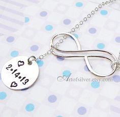 Infinity necklace  Hand stamped lariat necklace  by ArtOfSilver, $43.00  www.artofsilver.etsy.com
