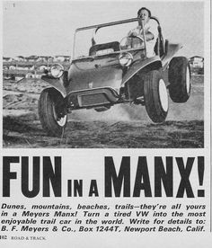 The Original and Best Dune Buggy, Meyers Manx Road & Track July 1966