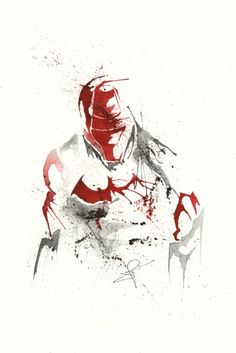 Red Hood - Splatter Artwork 2 Art Print
