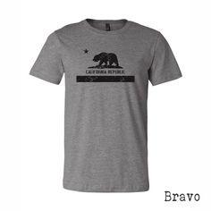 California Shirt. California Republic. Cali by bravocustomprinting