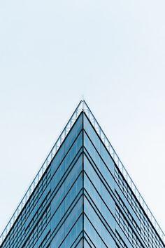 A sharp triangular corner of an office building in Berlin