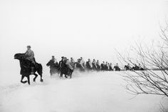 'Behind Enemy Lines,' Russian cavalry, by Dmitri Baltermants 1941
