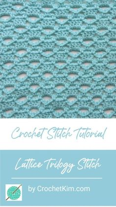 Lattice Trilogy CrochetKim Free Crochet Stitch Tutorial – Knitting and crocheting Different Crochet Stitches, Crochet Stitches Free, Crochet Hook Sizes, Crochet Blanket Patterns, Stitch Patterns, Knitting Patterns, Needlepoint Stitches, Knitting Tutorials, Diy Crochet Projects