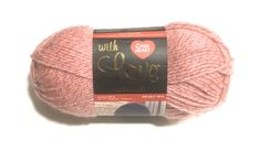 1 skein of light pink yarn by Red Heart, in the With Love Line, Metallic variety; darker pink metallic thread plied with the lighter pink. Red Heart Yarn, Love Rose, Metallic Thread, Knitted Hats, Knitting, Store, Pink, Products, Knit Hats