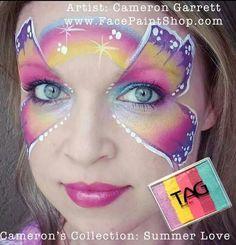 Summer Love blender at www.FacePaintShop.com Artist, Cameron Garrett