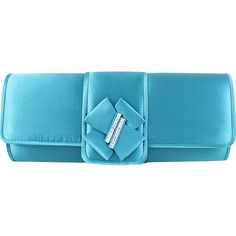 Jacki Design Elegant Satin Clutch with Bow Accent Clutche ($30) ❤ liked on Polyvore featuring bags, handbags, clutches, blue, evening bags, satin evening bag, chain handle handbags, blue evening bag, blue handbags and bow purse