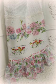 Shabby Cottage Susan Branch garden kitchen towel