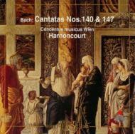 Johann Sebastian Bach   Nikolaus Harnoncourt   バッハ:カンタータ第140番《目覚めよ、と われらに呼ばわる物見らの声》第147番《心と口と行いと生きざまもて》  アーノンクール/ウィーン・コンツェントゥス・ムジクス、テルツ少年合唱団、他    全200曲におよぶバッハの教会カンタータ群の中でも飛び切りの名曲ふたつを選びました。147番のコラールはあまりにも有名です。アーノンクールが朋友レオンハルトと完成させた記念碑的な全曲録音からの収録です。エクヴィルツ、ハンプソンなど独唱陣も豪華。