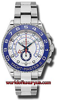 116680 - This Rolex Oyster Perpetual Yacht-Master II Mens Watch, 116680 features 44 mm Stainless Steel case, White dial, Sapphire crystal, Fixed bezel, and a Stainless Steel bracelet. Rolex Oyster Perpetual Yacht-Master II Mens Watch, 116680 also features Automatic movement, Analog display. This watch is water resistant up to 100m/330ft. - See more at: http://www.worldofluxuryus.com/watches/Rolex/Yacht-Master-II/116680/641_756_6436.php#sthash.gqBVIDK3.dpuf