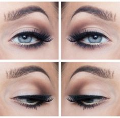 Pretty eye makeup - my typical daily look