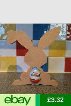 Easter Gift Blank craft Shape Bunny Rabbit Pack of 20 MDF Kinder Egg Holder