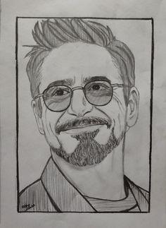 Avengers Drawings, Avengers Art, Marvel Art, Art Drawings Sketches Simple, Pencil Art Drawings, Cool Drawings, Iron Man Drawing, Iron Man Art, Man Sketch