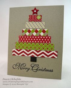 Stampin Up! Christmas  by Dawn Olchefske at DO Stamping with Dawn: Festival-of-Prints-Tree