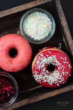 doughnuts with berry glaze