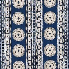 175841, Bora Bora Print, Marine, Schumacher Fabrics