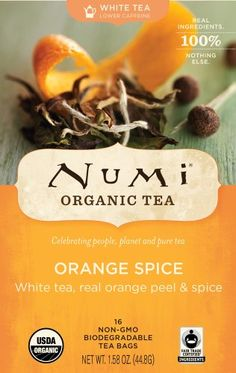Numi Organic Tea White Orange Spice Full Leaf White Tea 16Count Tea Bags 158 Oz  Pack of 2 ** You can get additional details at the image link.