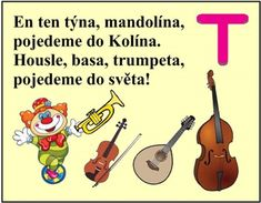 ABECEDA PÍSMENO T Musical Instruments, Montessori, Musicals, Language, Education, Alphabet, Mandolin, Historia, Carnival