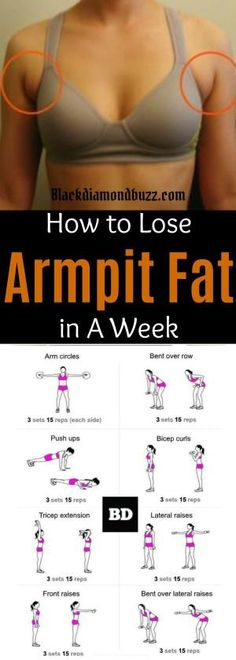 Arm fat workout  How to get rid of armpit fat and underarm fat bra in a week .These arm fat exercises will make you look sexy in your strapless dress and your friends will be jealous. Try it, you do not have anything to lose execept than that subborn upper body fat! by Debbie Sparks