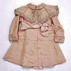 embroidered antique silk baby coat ... c. 1895-1900