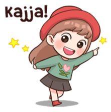 Vient/ allons-y/ vas y Pop Stickers, Emoji Stickers, Kawaii Stickers, Cute Korean Words, Korean Phrases, Anime Korea, Korean Anime, Chibi Kawaii, Anime Chibi