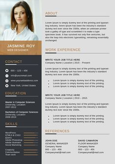 Freebie Clean CV/Resume Template ---CLICK IMAGE FOR MORE--- resume how to write a resume resume tips resume examples for student