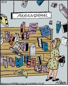 Paranormal book section.