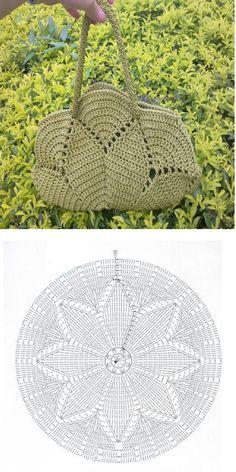Patron Crochet Bolso con Circulo - Patrones Crochet