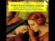 Stabat Mater for soprano, contralto, strings and basso continuo by Giovanni Battista Pergolesi Margaret Marshall (soprano) Lucia Valentini Terran. Best Classical Music, Classical Opera, Music Songs, New Music, Music Den, Early Music, London Symphony Orchestra, Calming Music, Mezzo Soprano
