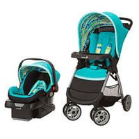 Safety 1st Amble Quad Travel System with OnBoard 30 Infant Car Seat - Rainbow Ice