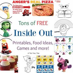 Tons of FREE Inside Out Printables, Food Ideas, Games and more! Perfect for an Inside Out Themed Party!