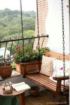 Balkon - ich brauche auch eine Schaukel!!