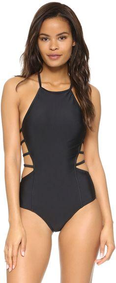 dde976dc1d7 Open Sided One Piece Swimsuit Black Swimsuit, One Piece Swimsuit, Monokini,  Bathing Costumes