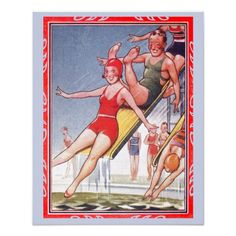 vintage swimming pool poster - Google Search