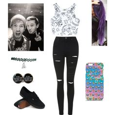 Josh Dun & Tyler Joseph (21 Pilots) by salutelilo on Polyvore featuring polyvore, fashion, style, Civil, Topshop and Vans