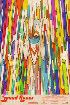 """ryankillustration:  New custom poster design I made for the 2008 film """"Speed Racer"""". - Ryan"""