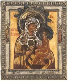 The Virgin of Tikhvin, Russian century. H Korban collection Russian Icons, 18th Century, Mona Lisa, Artwork, Painting, Collection, Work Of Art, Auguste Rodin Artwork, Painting Art