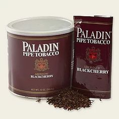 Paladin Black Cherry - Pipes and Cigars - Pipes & Tobaccos - Paladin Black Cherry pipe tobacco contains Burleys and Virginias and they meld together with a Blac - Wooden Smoking Pipes, Tobacco Pipe Smoking, Tobacco Pipes, Pipes And Cigars, Cigars And Whiskey, Best Pipe Tobacco, Burley Tobacco, Tobacco Store, Cherry Topping