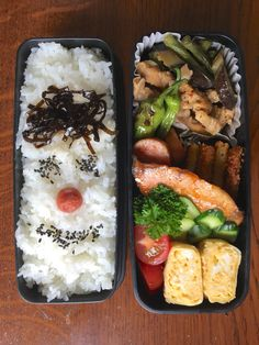 Obentou 2016.6.16 ブリの照り焼き&豚肉とインゲンとナスの味噌炒め Bento Recipes, Lunch Box Recipes, Healthy Recipes, Food Dishes, Food Platters, Cute Food, Yummy Food, Breakfast Lunch Dinner, Frugal Meals