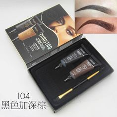 f14e85ccb65 Professional Brand Makeup 1pcs Mascara For Eyebrows Paint Brush + 2pcs Brown  Waterproof Tint Brows Eyebrow Henna Makeup Set