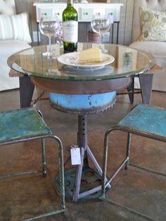Tall Round Bar Table