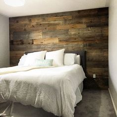 Another Sunday, another barn board wall complete. We installed this brown board wall in a house in Milton this morning. Anyone else a fan of the brown barn board??!!