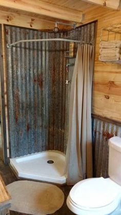 home decor - 116 Rustic Farmhouse Bathroom Ideas with Shower Barn Bathroom, Cabin Bathrooms, Bathroom Flooring, Small Bathroom, Budget Bathroom, Bathroom Cabinets, Houzz Bathroom, Outhouse Bathroom, Garage Bathroom