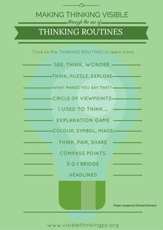 Making Thinking Visible through THINKING ROUTINES