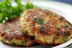 Chicken Croquettes (use low carb/gluten free stock, flour, breadcrumbs)