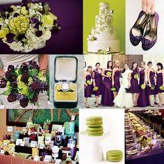 purple. lime green